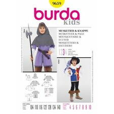 Burda Sewing Pattern 9659 Child's Boys Musketeer and Page Fancy Dress Costume
