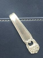 Purse Hook Eternally Yours Rogers Vintage Antique Silverplate Keychain Key Ring