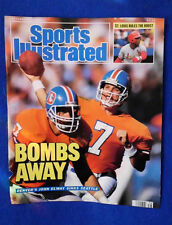 John Elway Sports Illustrated cover Sept  87 Denver Broncos