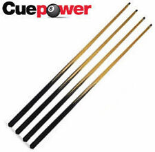 "Four Trade Quality Short 37"" Pool or Snooker Cues with 5 FREE 11mm Screw In Tips"
