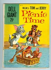Dell Giant #21 G/VG 1959 Tom and Jerry Picnic Time – 1st Issue!