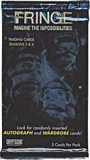 Cryptozoic 2013 Fringe Season 3 & 4 Sealed Trading Card Pack with 5 Cards