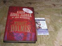Kareem Abdul Jabbar Autographed Mycroft Holmes Book JSA Cert