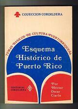Hector Oscar Ciarlo Esquema Historico De Puerto Rico Temas Basicos 1977 Signed