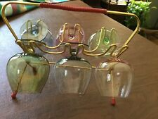Beautiful,Vintage, retro, matching 60's Colored Cordial glasses set in rack