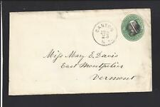 CANTON, NEW YORK 3CT GREEN COVER,TO E.MONTPELIER,VT. ST.LAWRENCE CO. 1807/OP.
