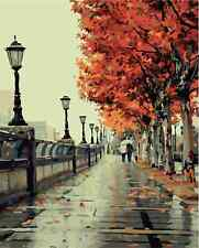 Diy oil Painting Paint by Numbers Kits for Adult  Romantic Love Autumn