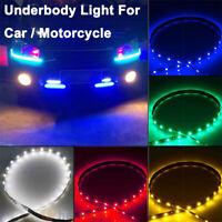 18x Waterproof 12''/15 DC 12V Motor LED Strip Underbody Light For Car Motorcycle