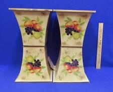 "Metal Planters Rustic Fruit Design Gold Set of 4 Plants Pots 7 1/4"" Tall Fluted"