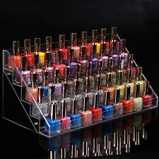 Nail Polish Display Stand Makeup Organizer Holder Rack Clear Acrylic 60 Bottles