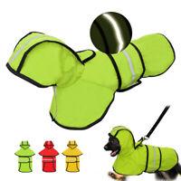 Hund wasserdichter Regenmantel Overall Reflektierende Regenbekleidung Jacke