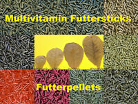 6 x 25 gr Futtersticks für Garnelen Welse Schnecken Aquarium BLITZVERSAND