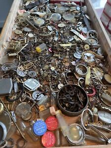 Job Lot Of Vintage Mechanical Watch Movements - Spares And Parts Tray 4