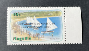 Anguilla 1983, Anniversary of Slavery Act INVERTED Overprint sg573a MNH, Cat £38