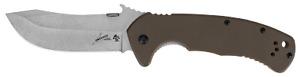 Kershaw CQC-11K D2 Emerson Frame Lock Knife Brown G-10 D2 Carbon Steel 6031D2