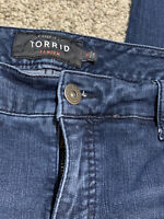 Women's TORRID CROP SKINNY STRETCH JEANS Size 16 Actual 37x24 Rise 10