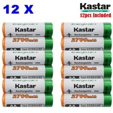 AA (12Pack) Ni-MH 2700mAh Super High-Capacity Rechargeable Batteries Pre-charged
