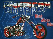 PERSONALIZE AMERICAN CHOPPER BLACK WIDOW MOTORCYCLE QUILT BLANKET CRIB THROW