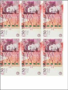 6 x Edible money 5,10,20, or 50 GBP pound notes - -Cupcake, cake, bun Topper