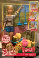 Barbie Walk & Potty Dog Pup Puppy Doll Blonde New by Mattel