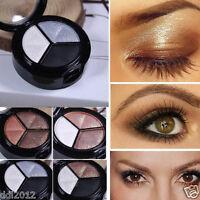 3 Colors Eyeshadow Natural Smoky Eye Shadow Makeup Cosmetic Palette Set Tool