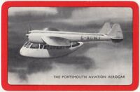 Playing Cards 1 Single Swap Card Old Vintage PORTSMOUTH AVIATION AEROCAR Plane 2