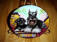 Miniature Schnauzers Dog Father'S Pride Danbury Plate