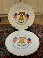 VINTAGE 1776 1976 BICENTENNIAL LIBERTY THROUGHOUT BELL FLAG PLATE PATRIOT LOT 2