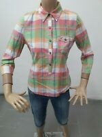 Maglia Camicia HOLLISTER Donna Shirt Woman Chemise Femme Taglia size M Coton8636