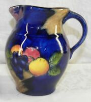 H K Tunstall AUTUMN Jug Pitcher HANDPAINTED FRUIT Grapes Plums Apples 5.25 Inch