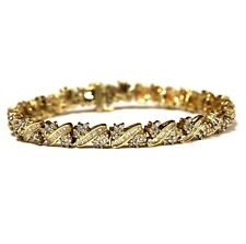 10k yellow gold 2.15ct SI1 SI3 H diamond tennis bracelet 15.2g estate vintage