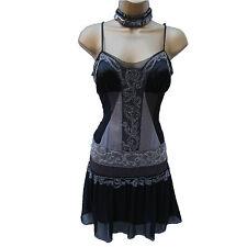 KAREN MILLEN Gatsby Flapper 20's Silk Beaded Evening Cocktail Dress 12-10 UK