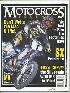 Motocross Journal Magazine April 2001 Jeremy McGrath Yamaha Supercross