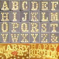 A-Z Alphabet LED Letter Lights Light Up Christmas Party Standing Hanging Decor