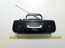 Panasonic rx-fs22 MINI-Boombox Ghetto Blaster CASSETTE REGISTRATORE STEREO DARK GREEN