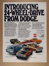 1978 Dodge Power Wagon Sno-Commander Ramcharger Macho Utiline vintage print Ad