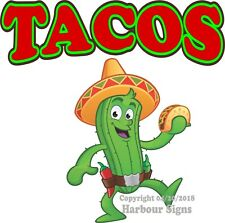 Tacos DECAL (Choose Your Size) Cactus Mexican Concession Food Truck Sticker