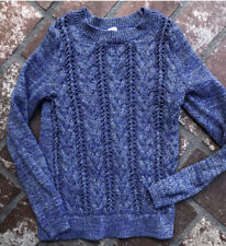 Justice Girls Purple Sparkle Cable Knot Sweater Sz 14