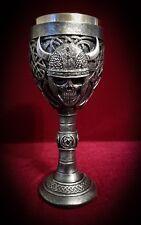 Viking Skull Wine Goblet - Chalice Medieval Warrior Celtic Decor