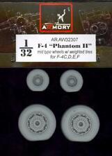 Armory Models 1/32 F-4 PHANTOM II MID TYPE WEIGHTED WHEELS SET Resin Set