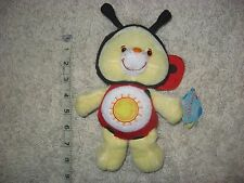 "Care Bear 8"" Series 10 * FUNSHINE BEAR *LADY BUG  *2005* RARE * RETIRED"