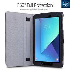 Case For Samsung Galaxy Tab S3 9.7 POETIC【SlimFolio】Slim Leather Case Black