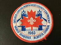 Scout XV World Jamboree Badge Canada 1983 Greater London (NW) Contingent