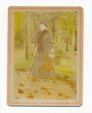 Foto (albumina??????) fine'800 nobildonna nel parco in autunno A400