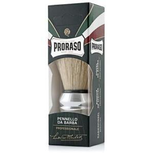 PRORASO BRISTLE HAIR SHAVING BRUSH CHROME SHAVE BRUSH