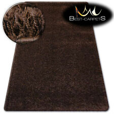 FLUFFY CHEAP SOFT RUGS SHAGGY 'NARIN BROWN' HIGH QUALITY nice in touch CARPETS
