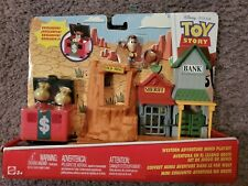Disney TOY STORY: WESTERN ADVENTURE MINI PLAYSET! Exclusive Figure & Vehicle!