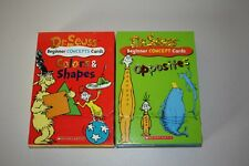 Dr Seuss Concept Cards Set Of 2 Colors & Shapes Opposites Classroom Daycare