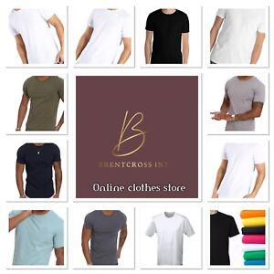 Men T Shirts 100% Cotton Short Sleeves Plain