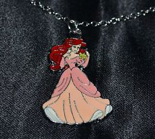 Ariel The Little Mermaid Princess Wearing Dress Girls Necklaces Jewelry Pendant
